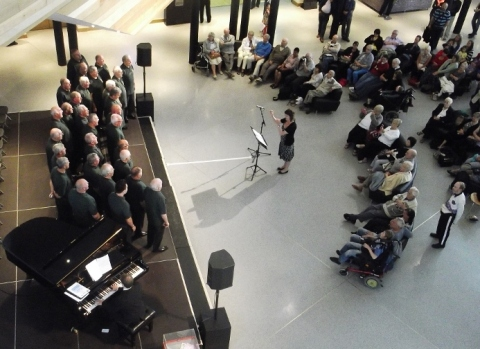Picture of Hereford Police Choir at Cardiff Millenium Centre
