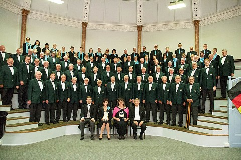 Picture of  Hereford Police Choir and Magdeburg Police Choir at the Shire Hall, Hereford